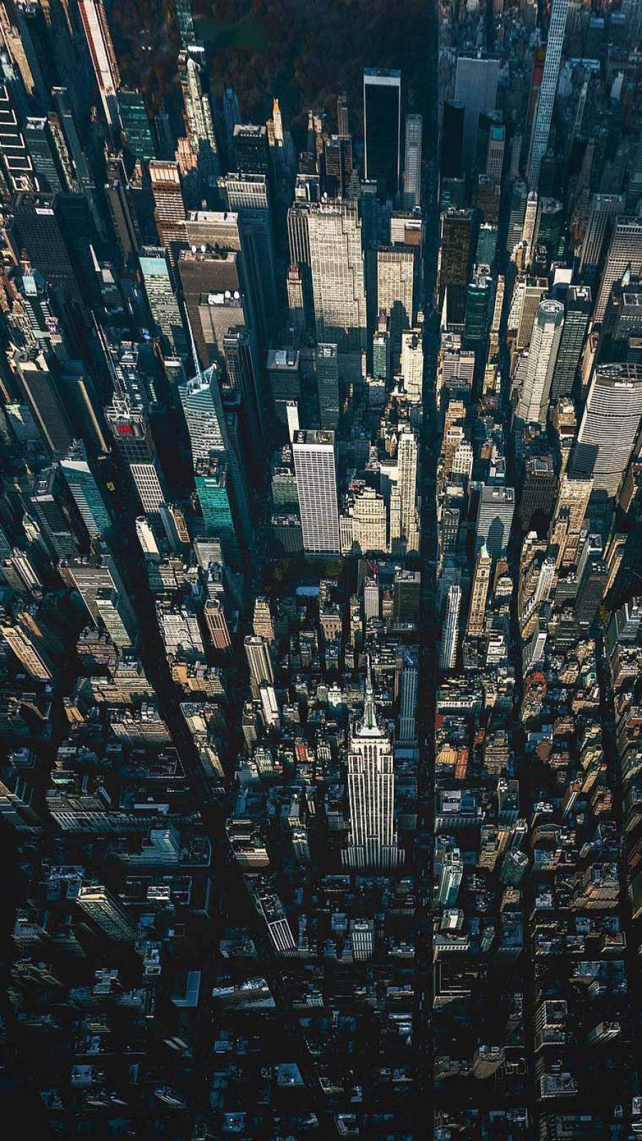 New York Aerial View iPhone Wallpaper