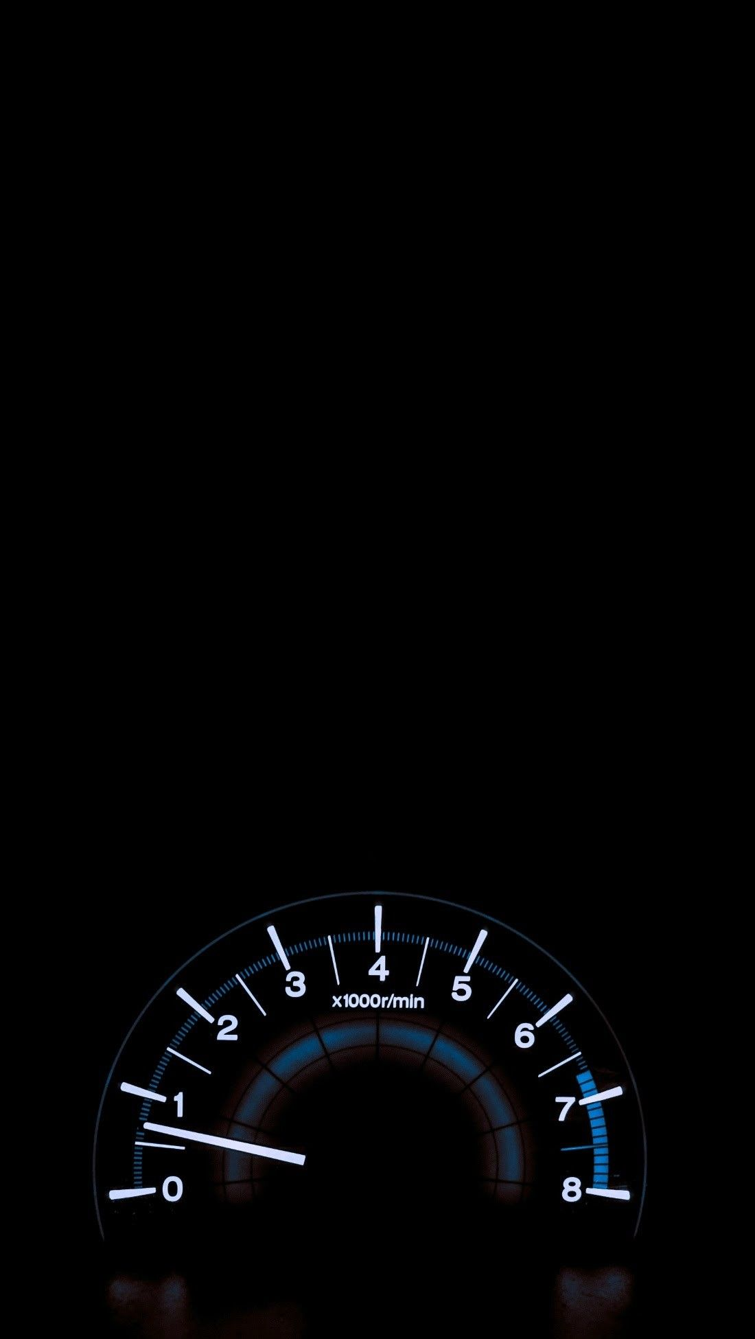 RPM Gauge iPhone Wallpaper
