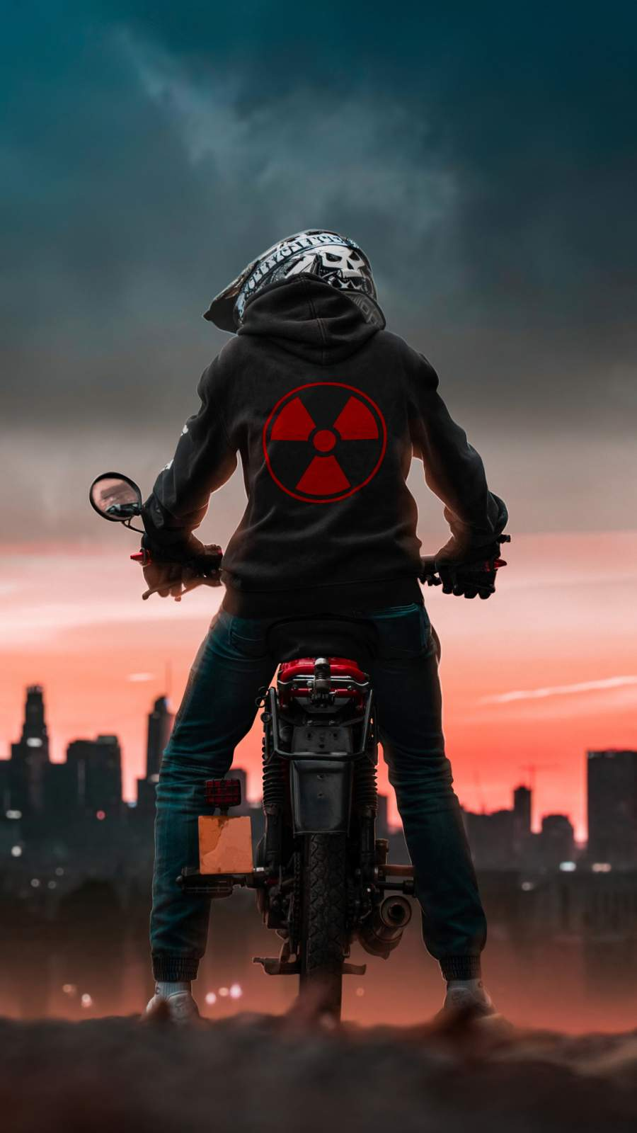 Radioactive Biker iPhone Wallpaper