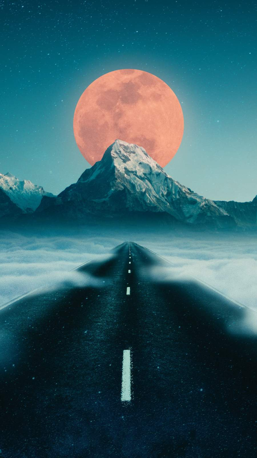 Road to Moon iPhone Wallpaper