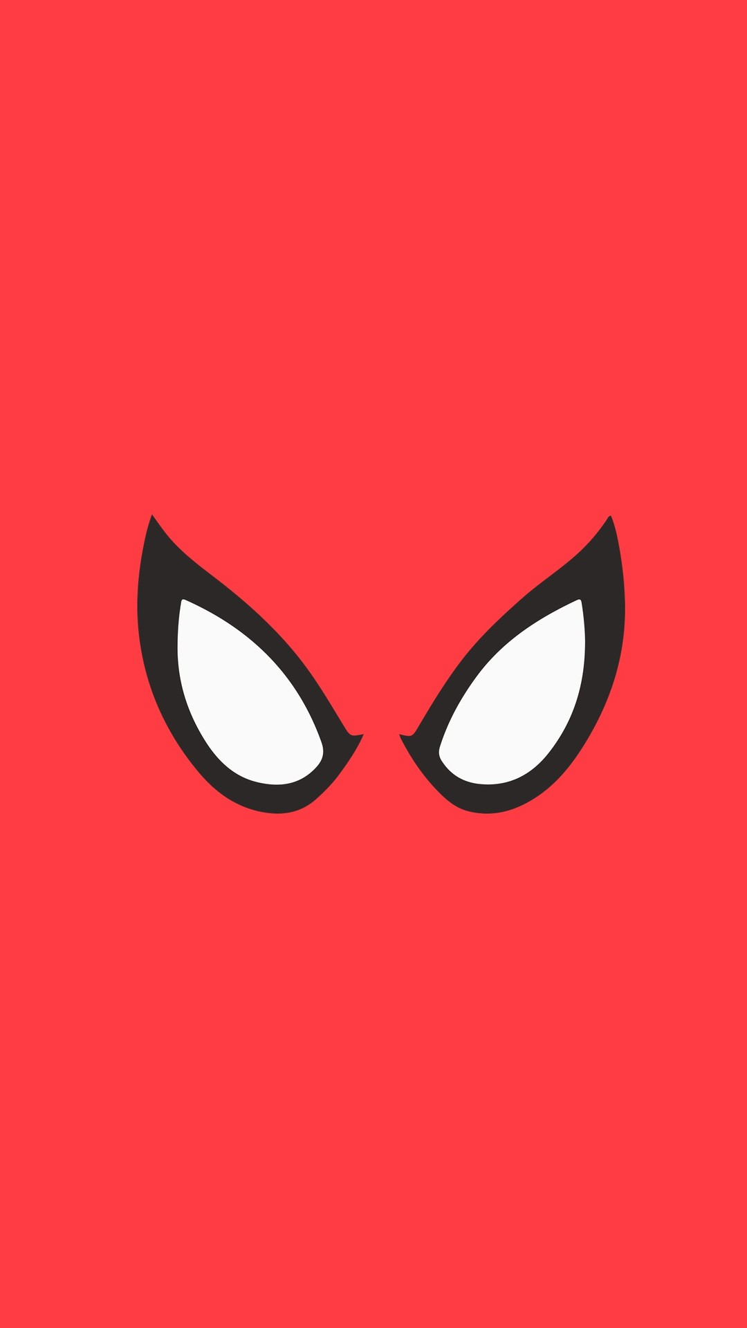 Spiderman Red Minimal Background iPhone Wallpaper