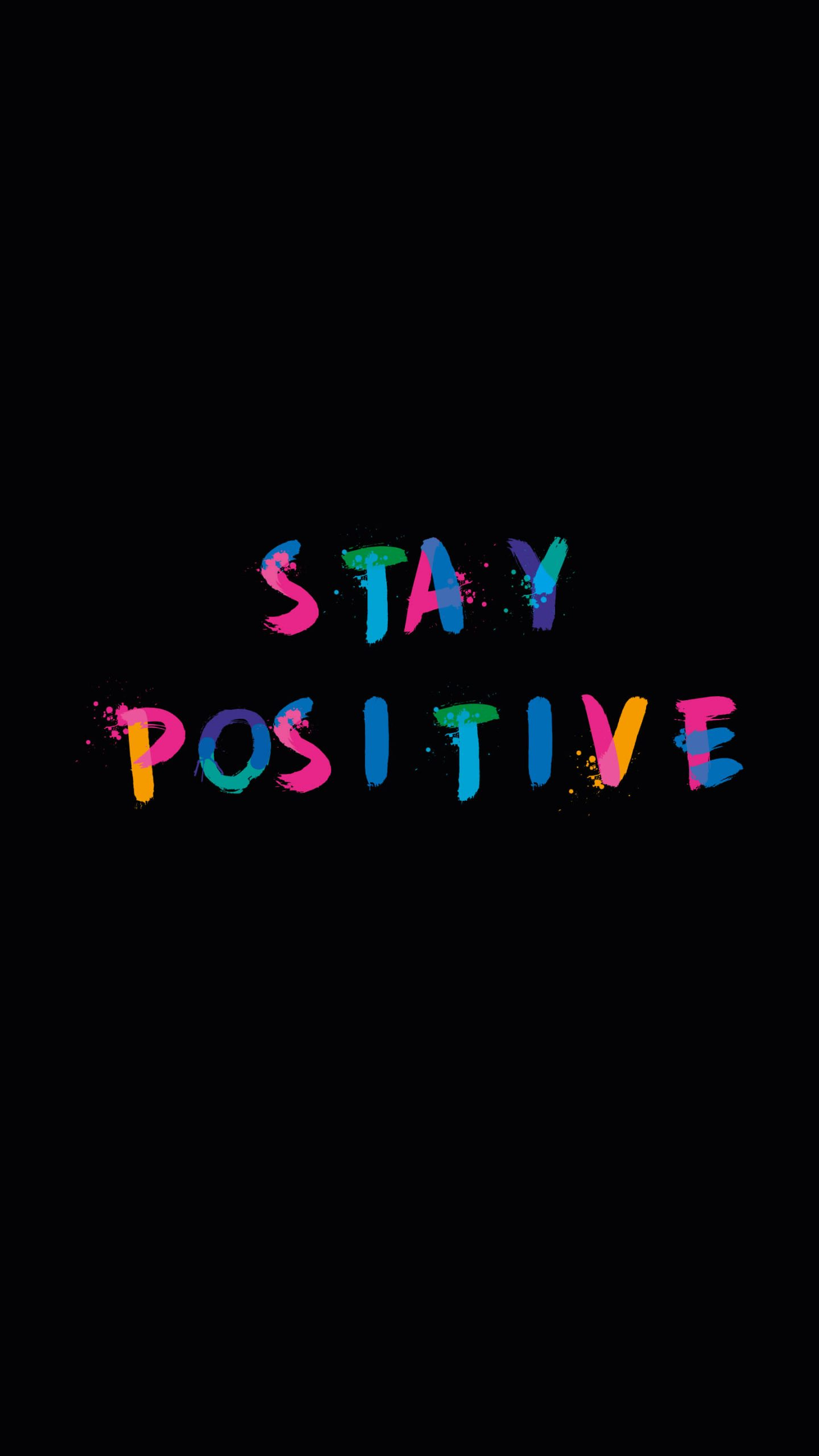 Stay Positive iPhone Wallpaper scaled
