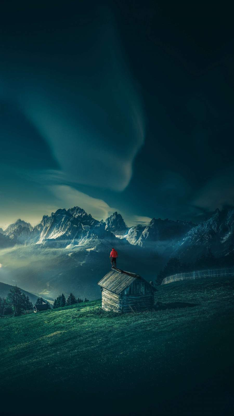 Swiss Mountain House iPhone Wallpaper