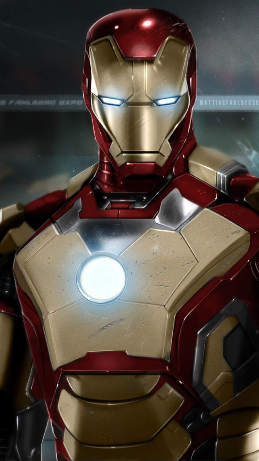 The Iron Man Mark 42 iPhone Wallpaper