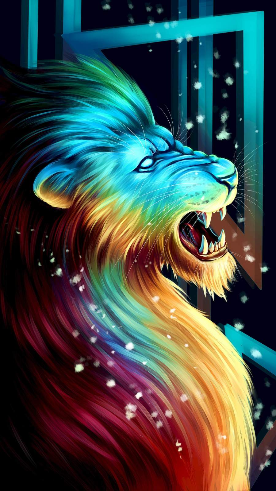 The Lion iPhone Wallpaper