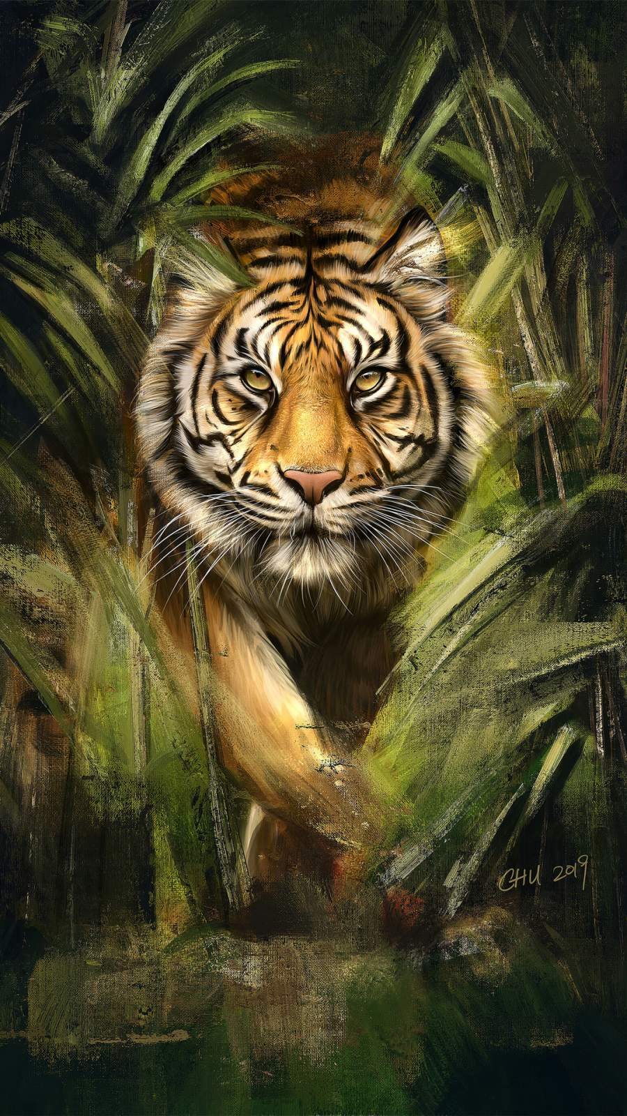 Tiger Painting iPhone Wallpaper