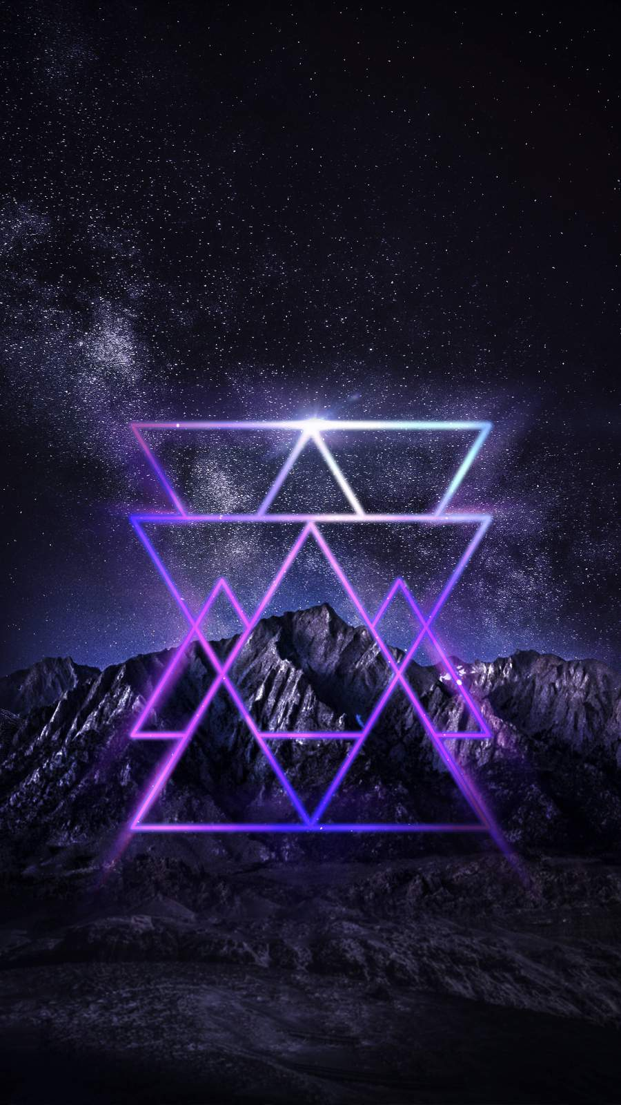 Triangles iPhone Wallpaper