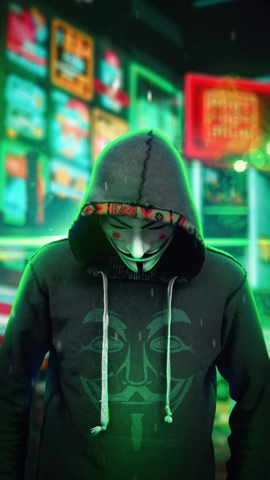 Anonymus Man Hoodie iPhone Wallpaper