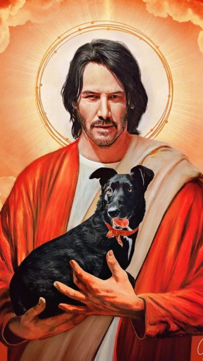 John Wick Dog God iPhone Wallpaper