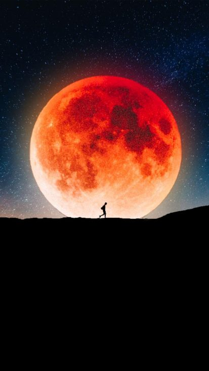Moon Walk iPhone Wallpaper