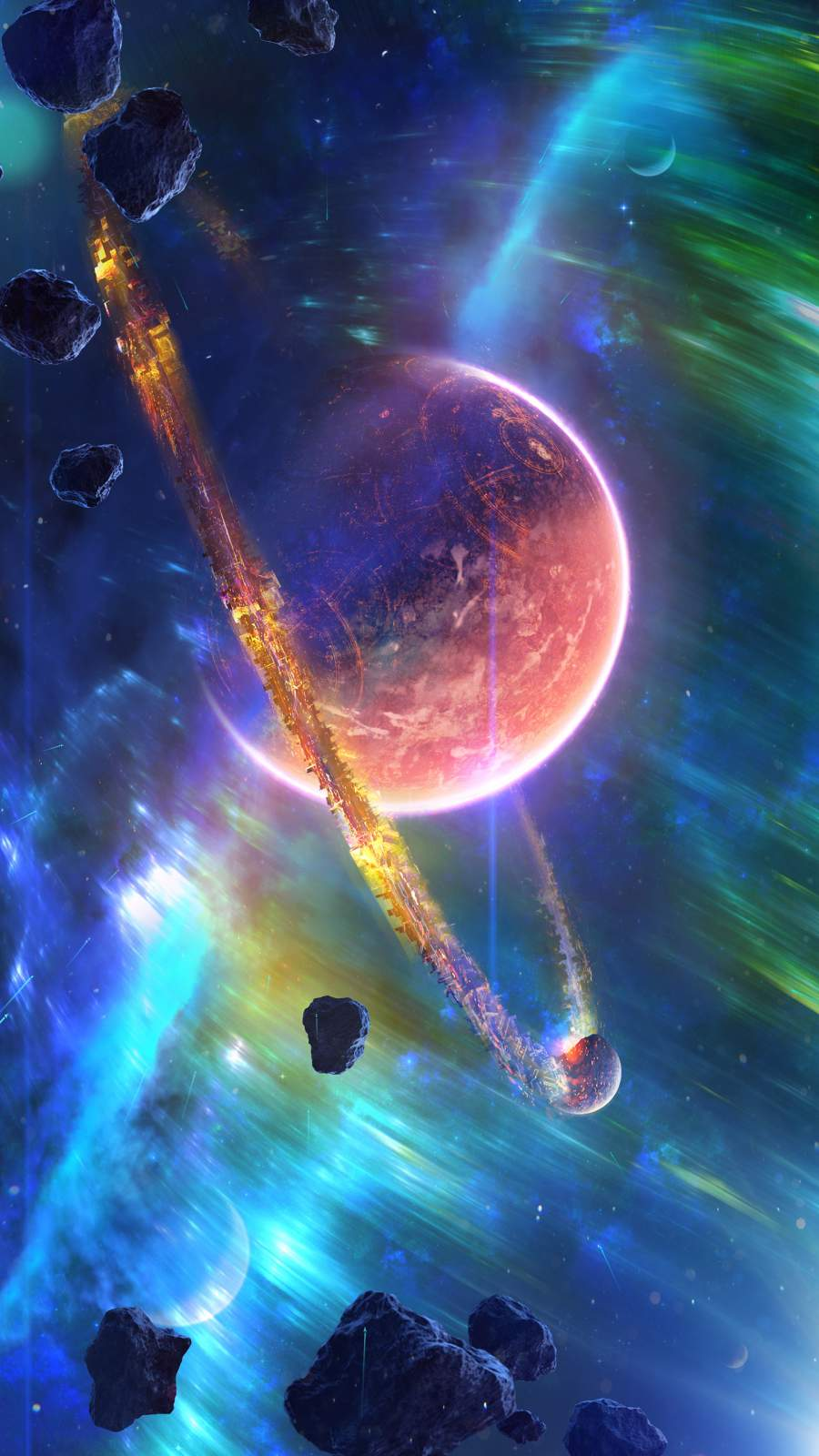 Nebula Planet iPhone Wallpaper