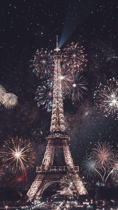 Paris New Year iPhone Wallpaper