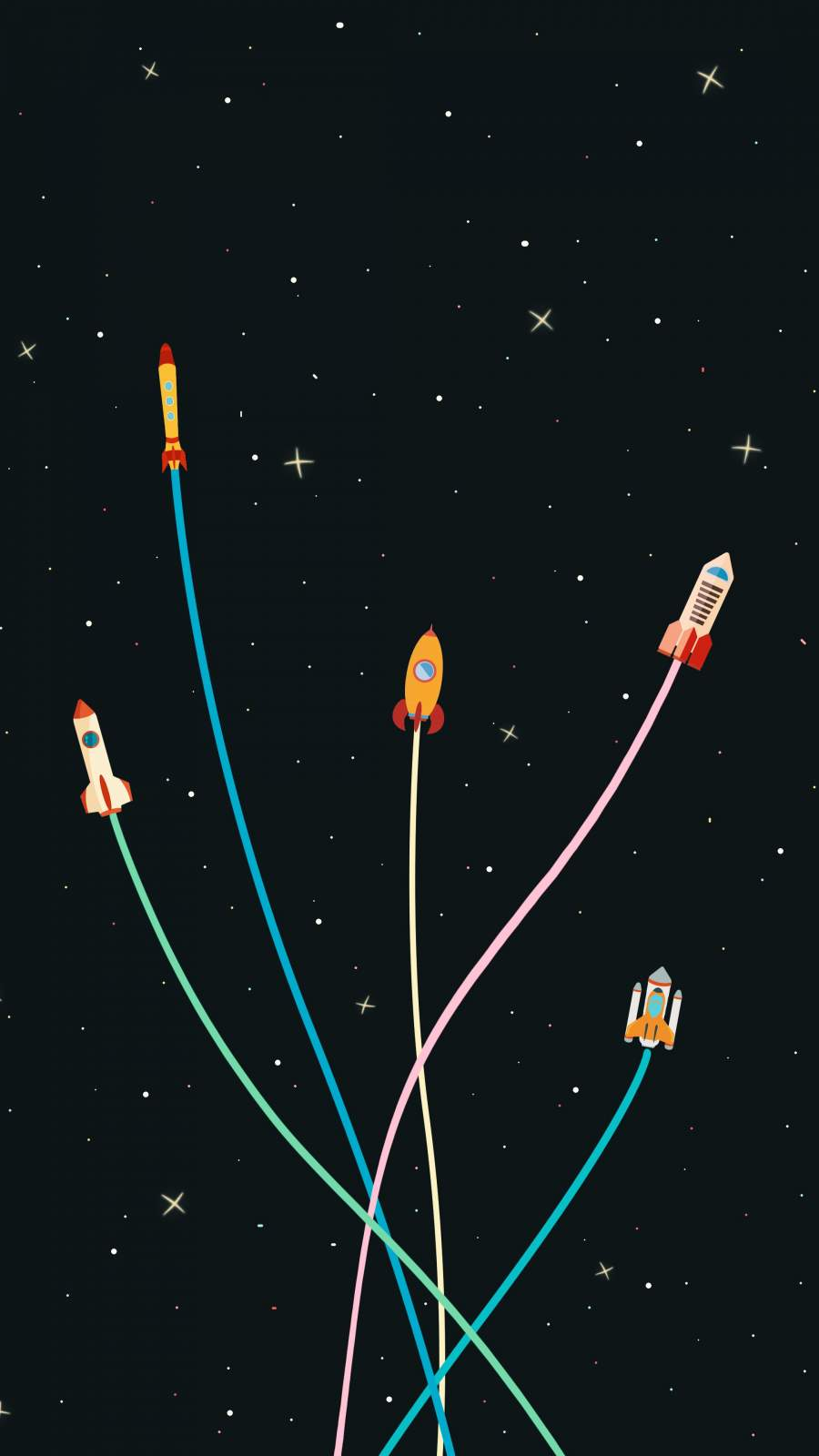 Rocket Party iPhone Wallpaper