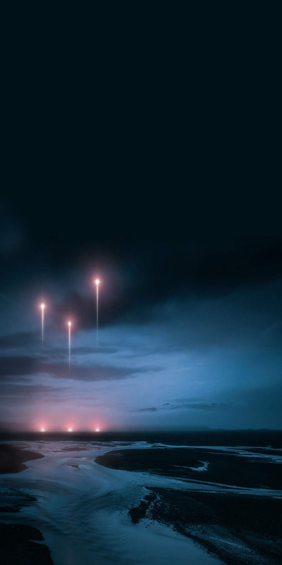 Rockets in Sky iPhone Wallpaper