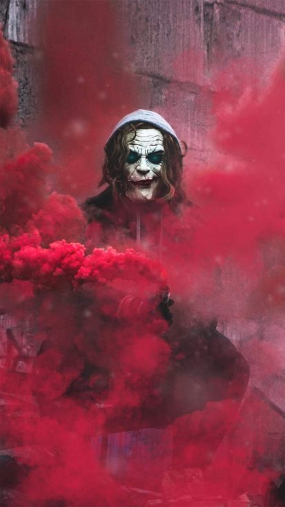 Smoke Joker iPhone Wallpaper