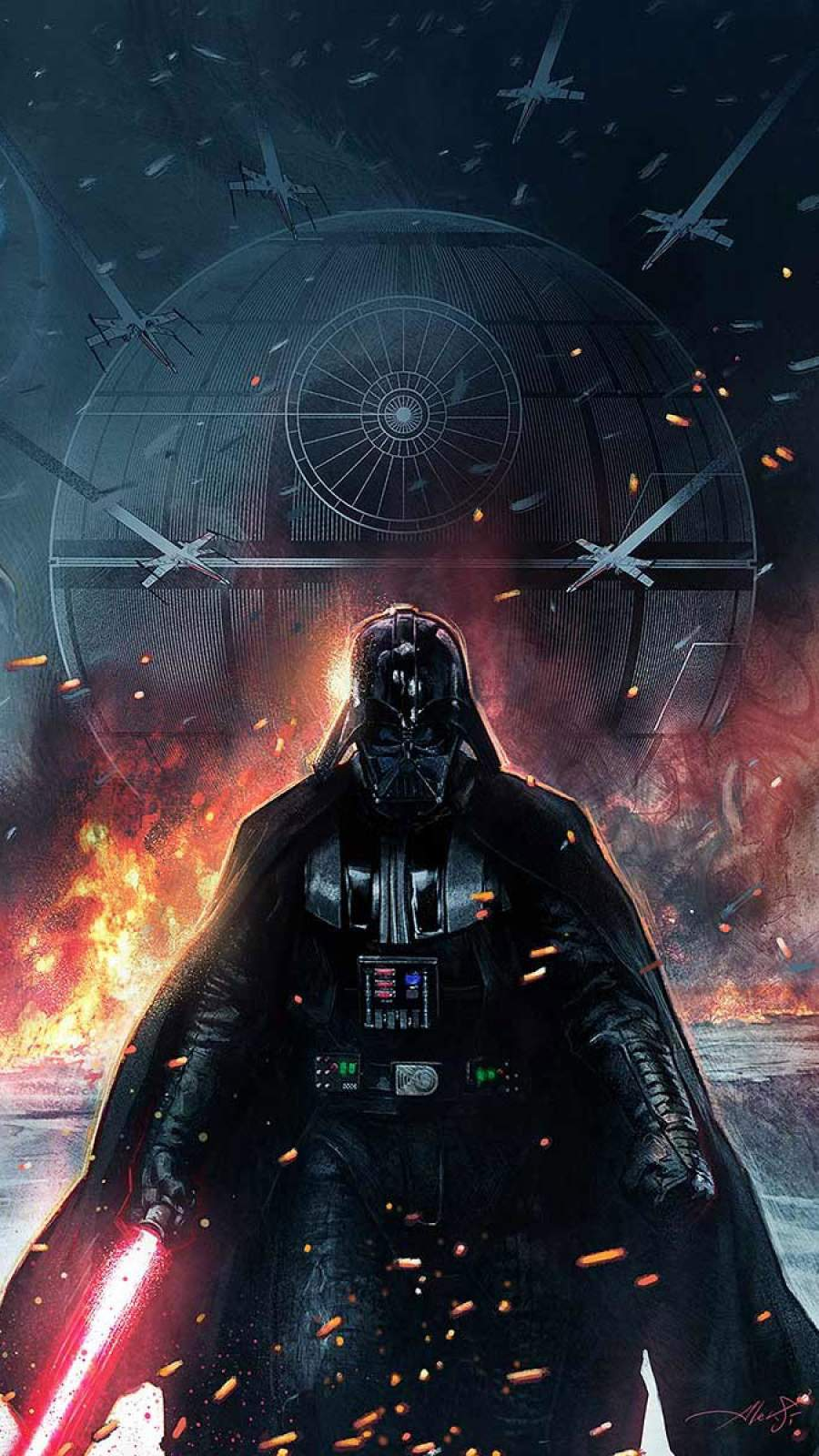 Star Wars Vader iPhone Wallpaper
