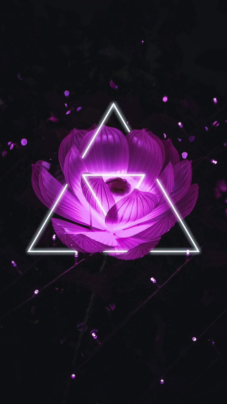 Triangle Flower iPhone Wallpaper