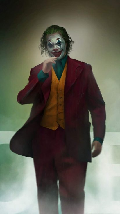 Joker Walking Art iPhone Wallpaper