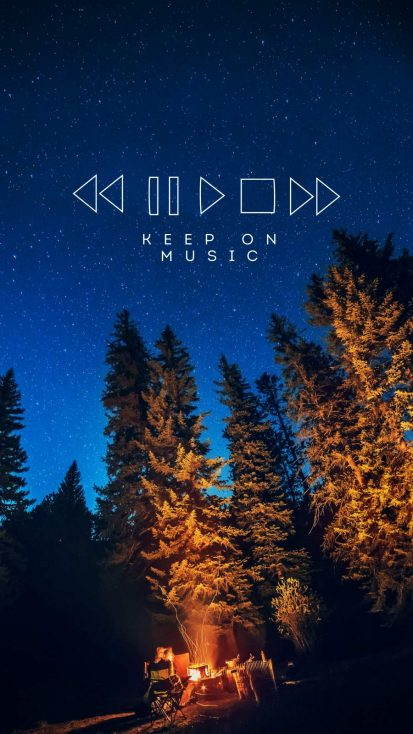 Keep On Music iPhone Wallpaper