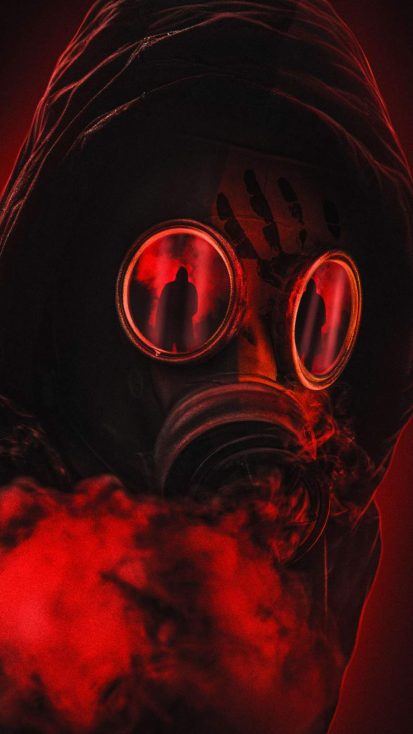 Red Mask iPhone Wallpaper