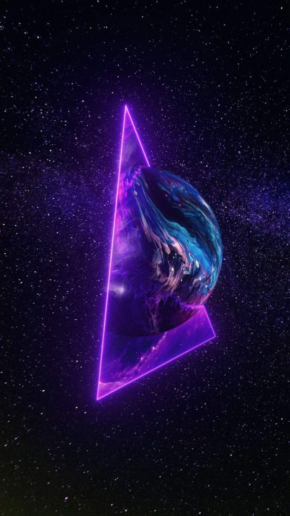 Triangle Planet iPhone Wallpaper